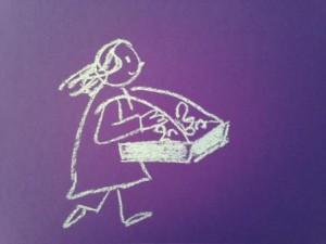 (c) Beate Mader, Kreide auf Plakatkarton