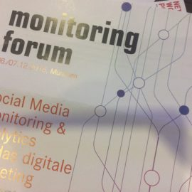 Live vom #somofo16 Monitoring Forum