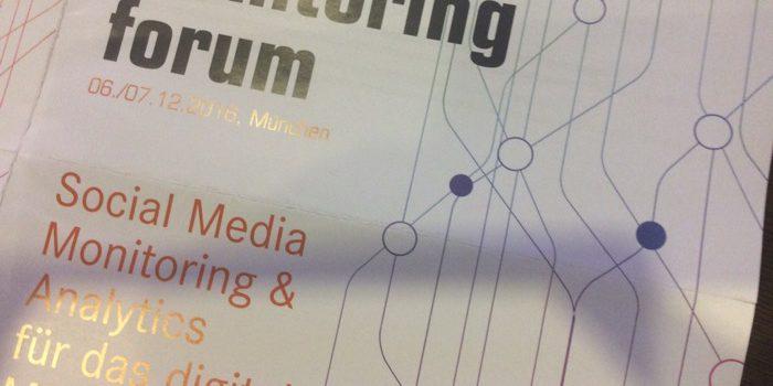 Live vom #somofo16 Monitoring Forum