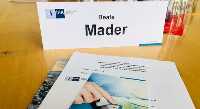 Ehrenamt IHK: Regionalausschuß – diesmal zu Tourismus