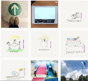 Screenshot Instagram @horsemaid239 | Persönliche Challenge: jeden Tag 2 Werte zeichnen und veröffentlichen