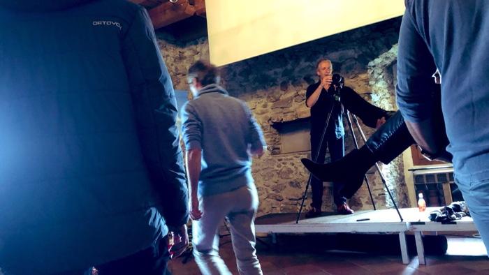 Die zwei Hauptakteure in Aktion: Günter Exel mit der Osmo/Video und Achim Meurer mit dem Foto. Wimmelbild als Gruppenbild beim #cczk19