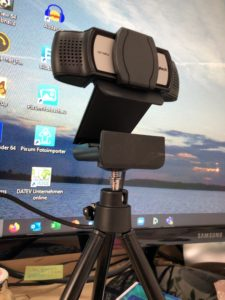 Webcam - technische Ausrüstung für virtuelle Meetings