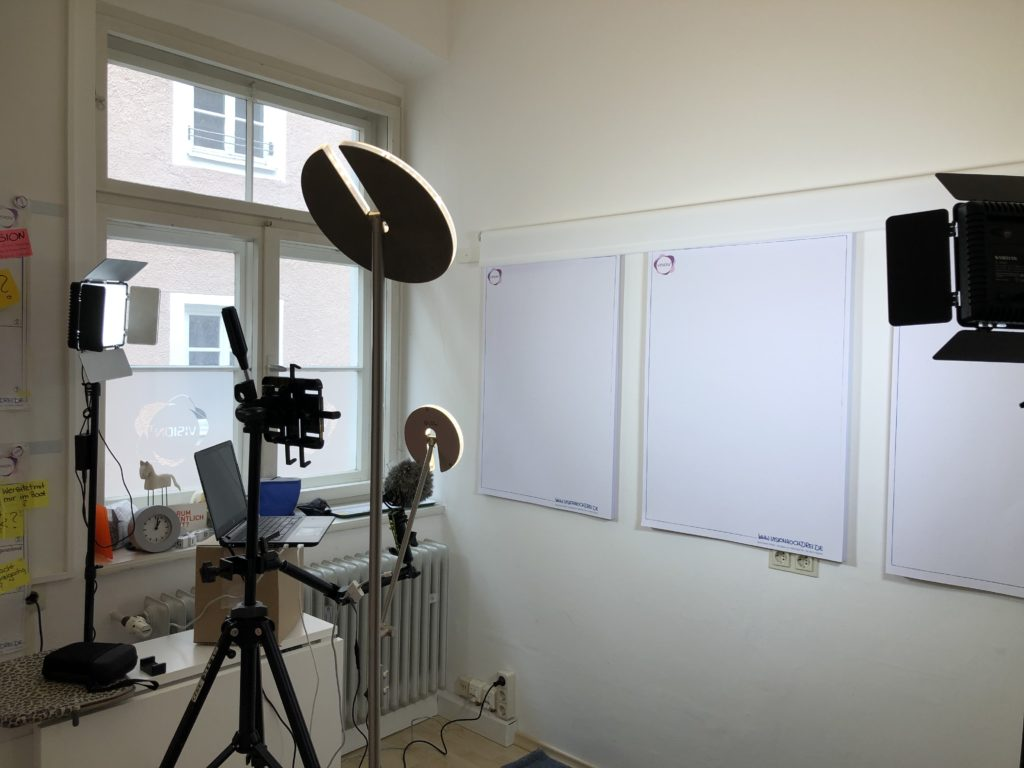Video Raum Beate Mader VISION³ CoWorking, Ideal für virtuelle Meetings