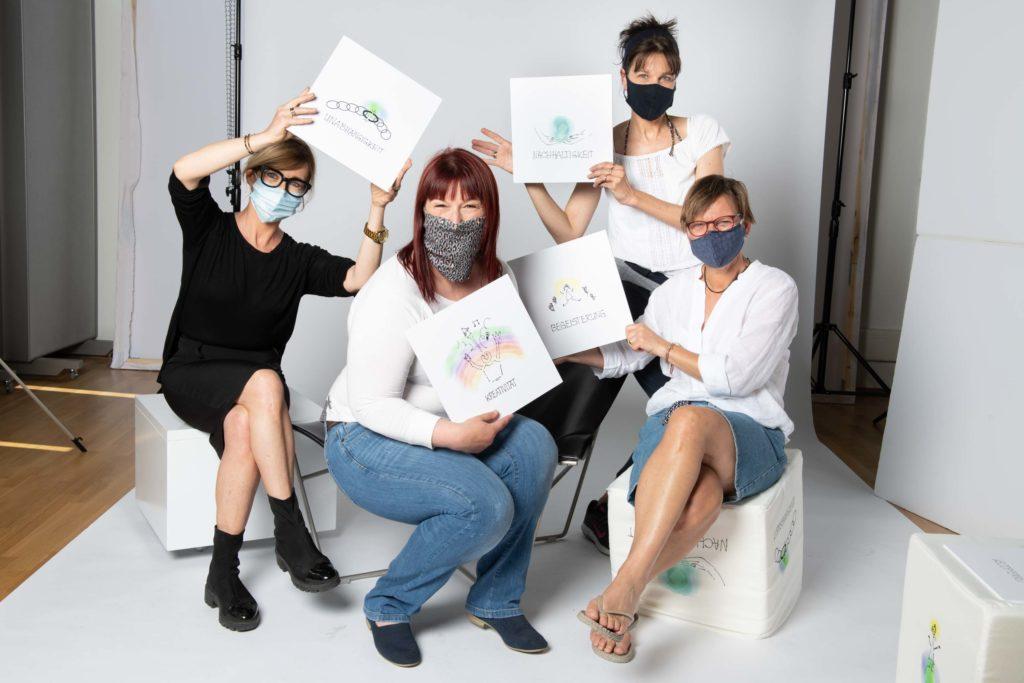 Gruppenfoto Shooting mit Stefanie Kresse, Stefanie Sottorf, Silke Balbierz und Beate Mader