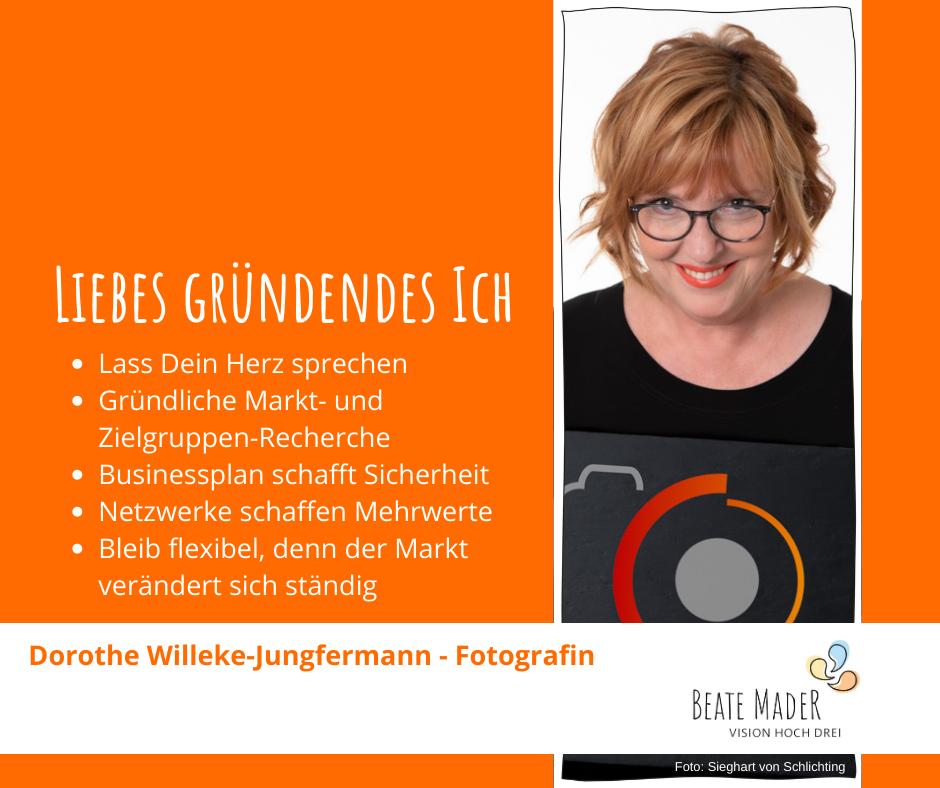 Dorothe Willeke-Jungfermann: Tipps an mein gründendes Ich