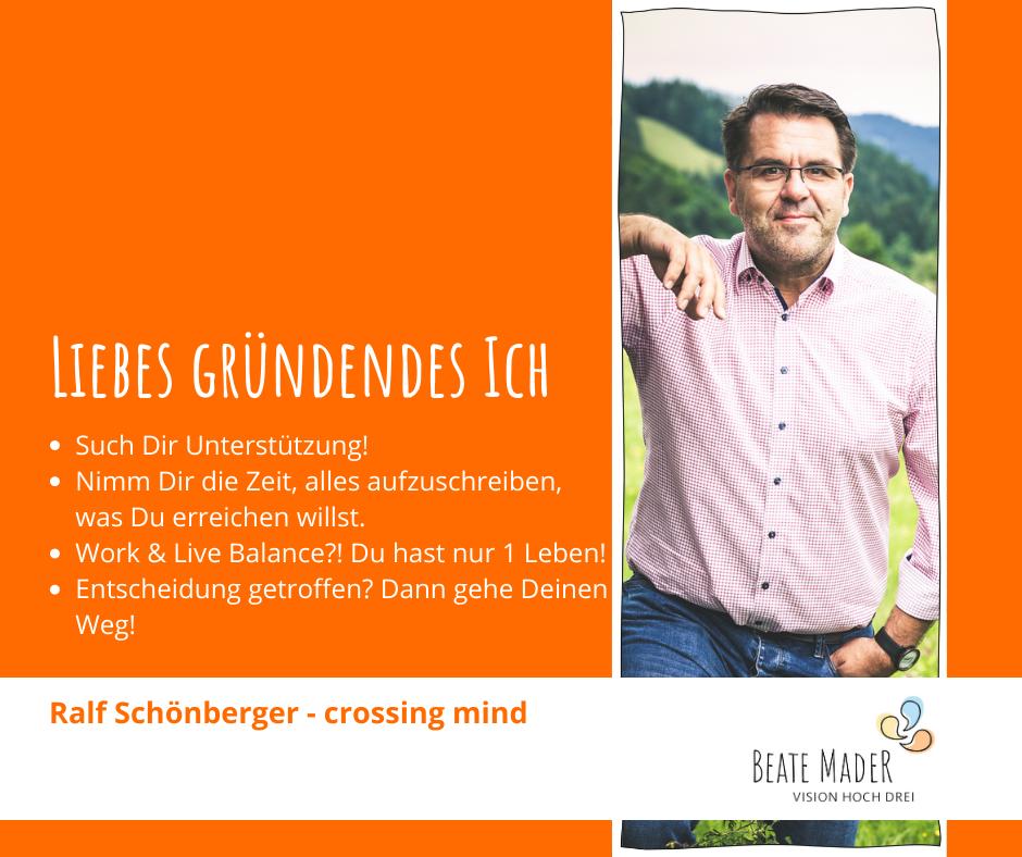 Ralf Schönberger: Tipps an mein gründendes Ich