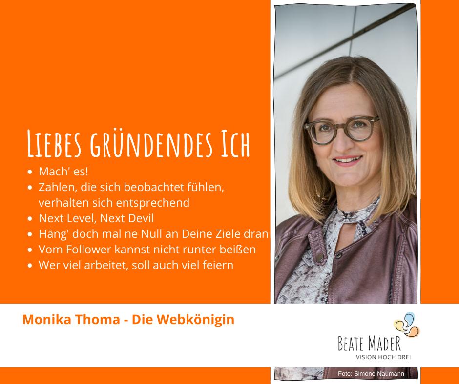 Tipps an mein gründendes Ich von Monika Thoma für Beate Mader