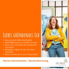 Tipps an mein gründendes Ich: Maren Martschenko