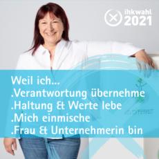 Beate Mader stellt sich zur IHK Wahl 2021