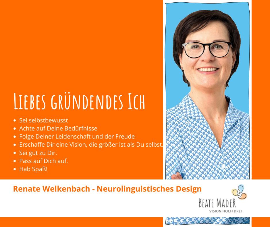 Renate Welkenbach: Tipps an ihr gründendes Ich