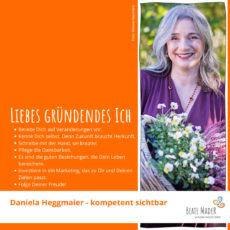 Daniela Heggmaier – Tipps an mein gründendes Ich