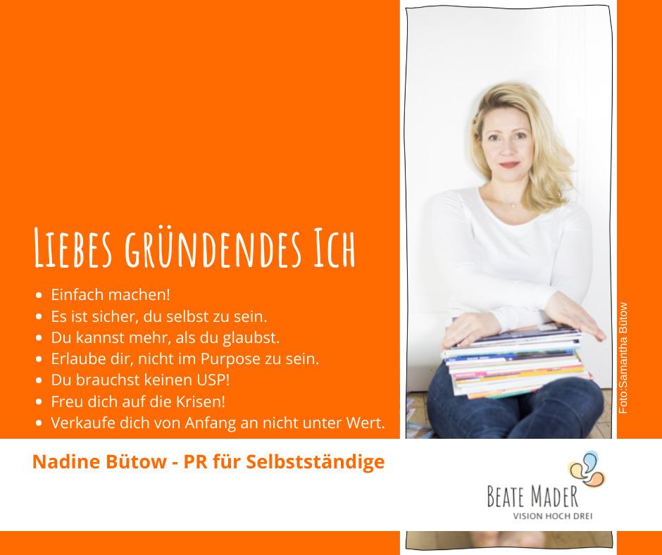 Nadine Bütow: Tipps an mein gründendes Ich