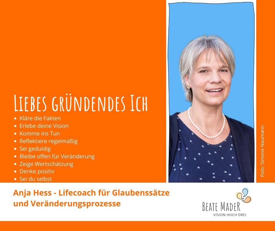 Anja Hess: Tipps an ihr gründendes Ich