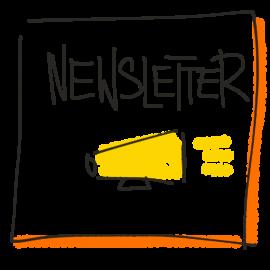 Newsletter - gezeichnet von Beate Mader